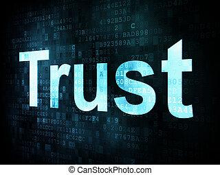 leben, schirm, stil, pixelated, wörter, digital, vertrauen, ...