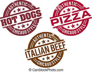 lebensmittel, heißer hund, chicago