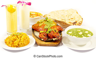 lebensmittel, huhn, indische , tandori