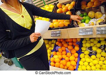 lebensmittel, kaufen, supermarkt
