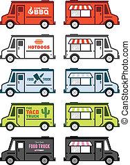 lebensmittel, lastwagen, grafik