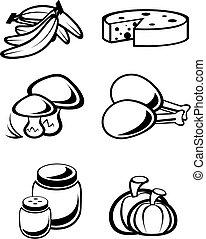 lebensmittel, symbole