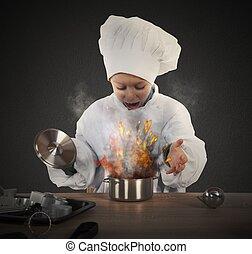 lebensmittel, verbrannt