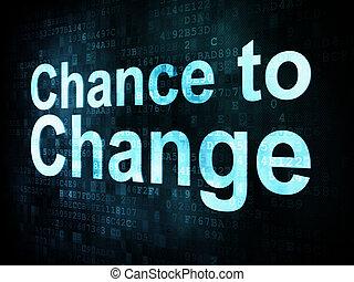 lebensstil, chance, concept:, pixelated, wörter, digital, änderung