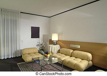 lebensunterhalt, hotelzimmer