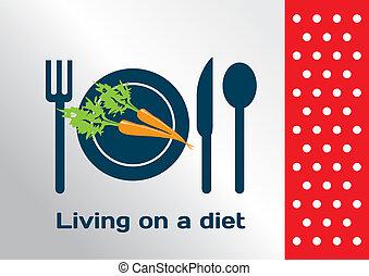 lebensunterhalt, symbol, diät