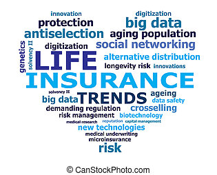 lebensversicherung, tendenz, wörter