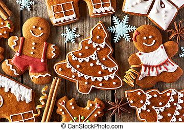 lebkuchen- plätzchen, weihnachten, selbstgemacht