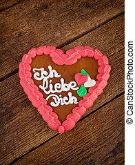 Lebkuchenherzen gingerbread Heart cookie