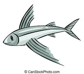 lecąc ryba, rysunek