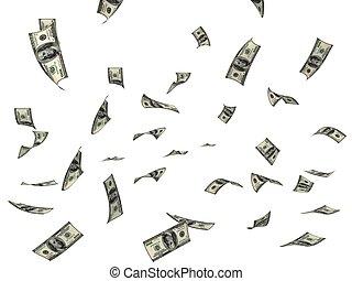 lecące pieniądze