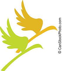 lecące ptaszki, symbol