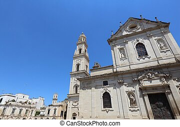 Lecce, Italy - Lecce Cathedral in Italy. Baroque ...