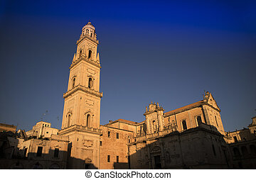 Lecce square of the cathedral - View of the Piazza del Duomo...