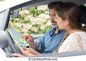 lección de conducir