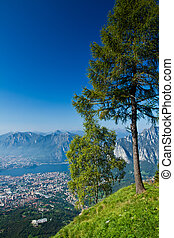 Lecco, aereal view