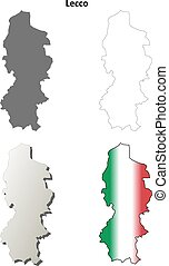 Lecco blank detailed outline map set - Lecco province blank...