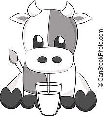 leche de bebida, vaca