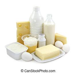 lechería, huevos, productos