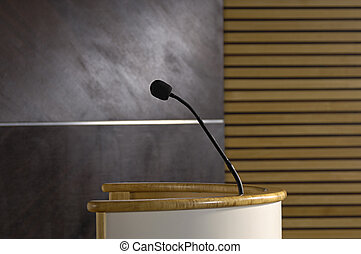 lectern in the auditorium