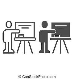 lector, educación, estilo, pictogram, visual, señalar, ...
