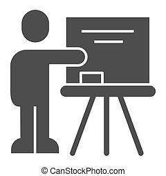 lector, fondo., icon., señalar, educación, concepto, estilo...