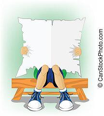 lectura, caricatura
