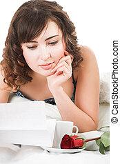 lectura de mujer, carta