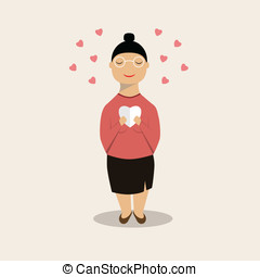 lectura de mujer, un, mensaje, de, corazón