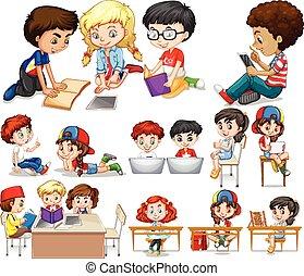 lectura, niños, aprendizaje