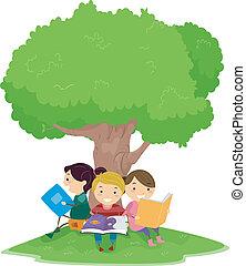 lectura, niños