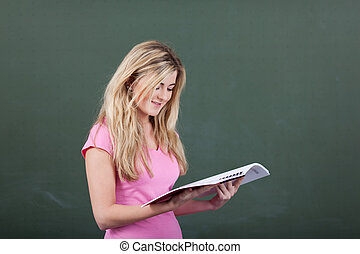 lecture, ÉTUDIANT, manuel,  passage