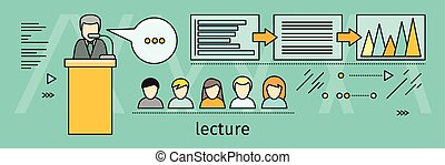 Lecture Concept Vector Illustration In Flat Style
