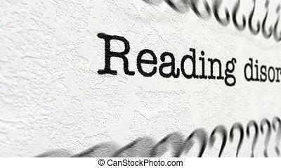 lecture, désordre