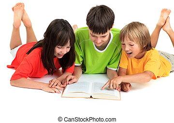 lecture, enfants, livre