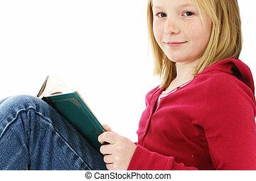 lecture fille, jeune