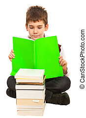 lecture garçon, étudiant