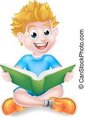 lecture garçon, livre