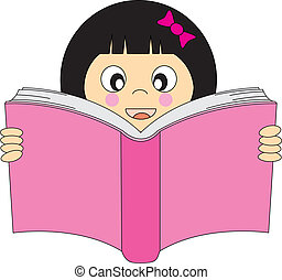 lecture, girl, livre