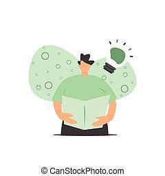 lecture homme, avoir, prouctive, manuel, idées, nouveau