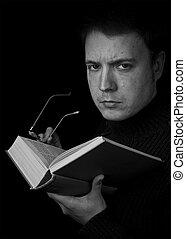 lecture homme, livre