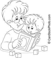 lecture, père, fils