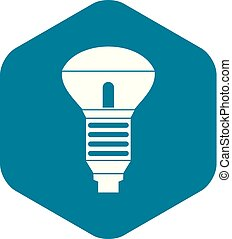 Led bulb icon, simple style