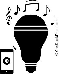 LED bulb with a speaker