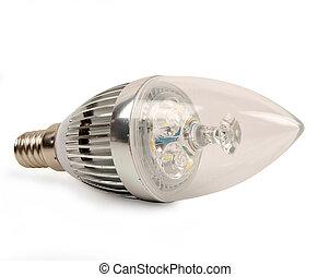 Led candle light bulb - led candle light bulb isolated on ...