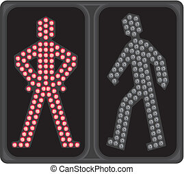 LED crosswalk signal