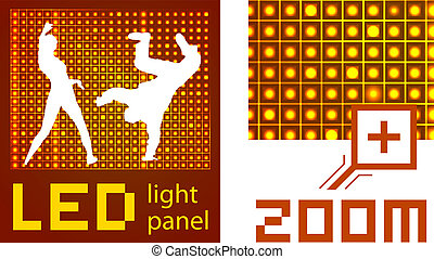 led diode display panel background