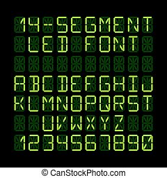 LED display font