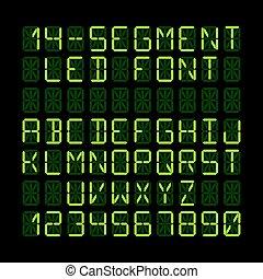 LED display font