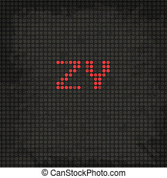 LED Display Scoreboard Grunge Font